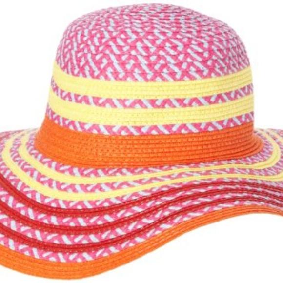 7eda79b91a3 BCBGeneration Accessories - BCBGeneration Women s Pop Stripe Floppy Hat  Cherry